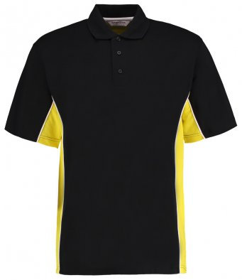 Adult Polo Shirt Black/Yellow