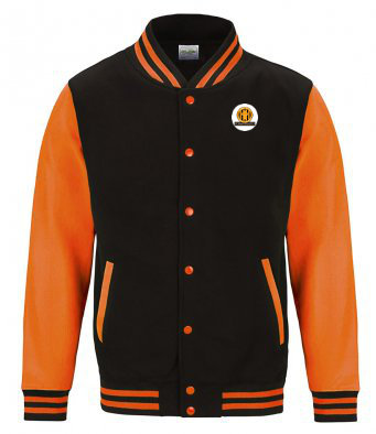 Kids Varsity Jacket Black/Orange