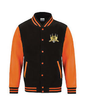 Adult Varsity Jacket Black/Orange