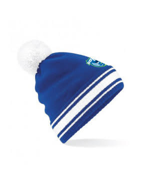 Beanie Hat Royal/White