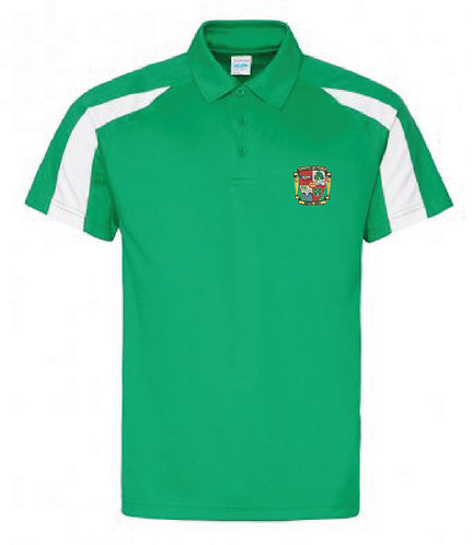 Adult Polo shirt Green/White