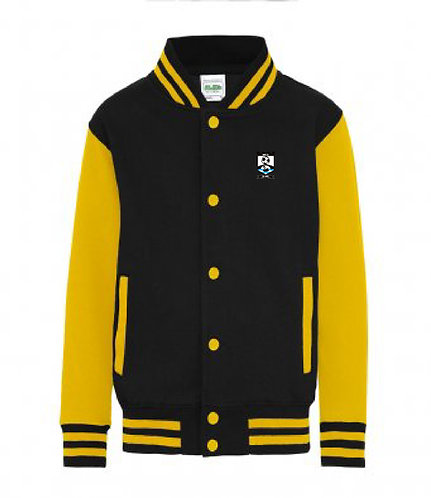 Kids Varsity Jacket Black/Yellow