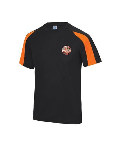 Polo Shirt - Black/Orange