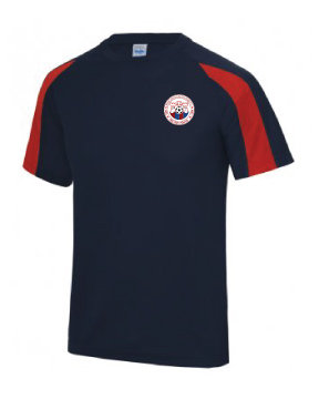 Kids Cool T Shirt Navy/Red