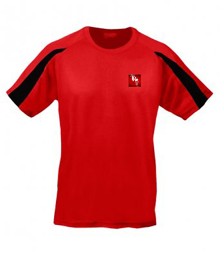Adult Tee Shirt Black/Red