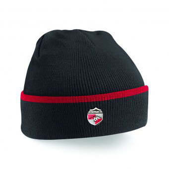Beanie Hat Black/Red