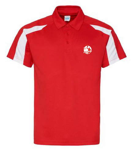 Adult Polo Shirt Red/White