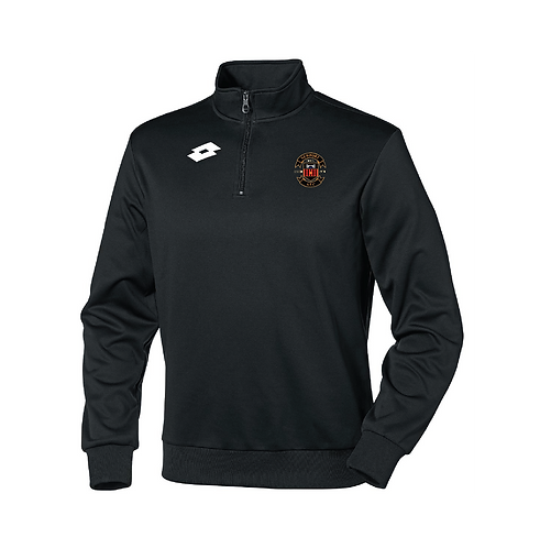 Adult 1/4 Zip Top Black