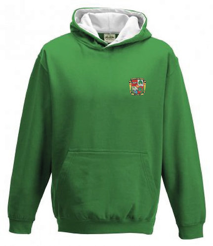 Adult Hoody Green/White