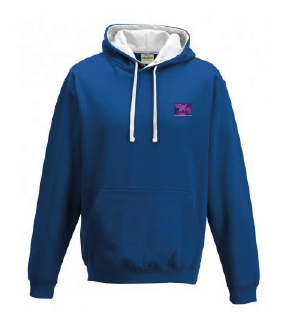 Adult Hoody Royal/White