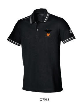Adult Polo Shirt Black/White