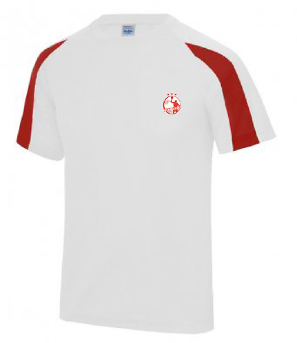 Adult Tee Shirt White/Red