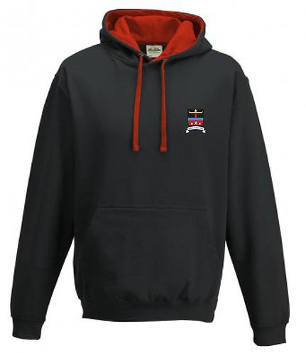 Adult Varsity Hoodie Black/Red