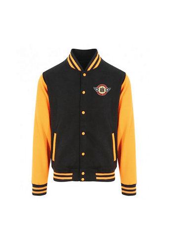 Kids Varsity Jacket Black/Orange