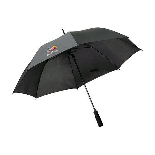 Crested Black Umbrella