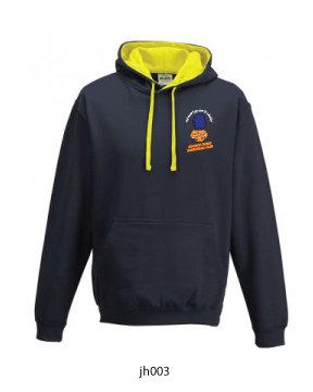 Adult Varsity Hoody Navy/Yellow
