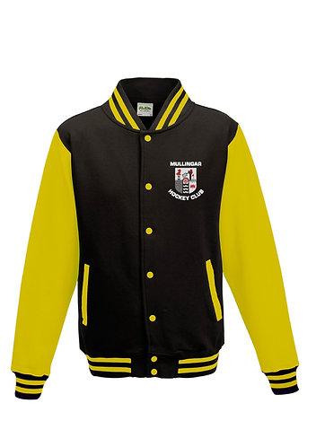 Adult Varsity Jacket Black/Yellow