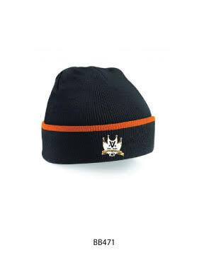 Beanie Hat Black/Orange