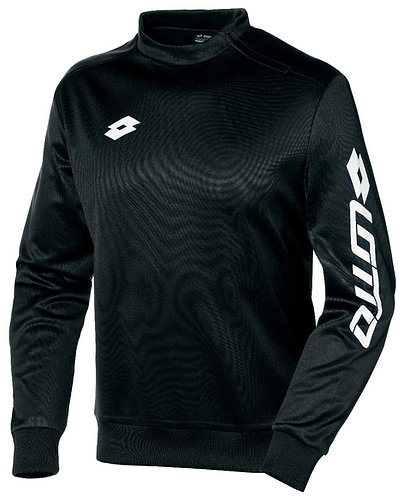 Adult Sweat Shirt black Side Neck Zip