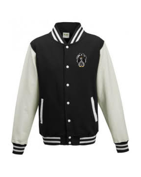 Kids Varsity Jacket Black/White