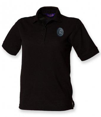 Ladies Polo Shirt Black Cotton