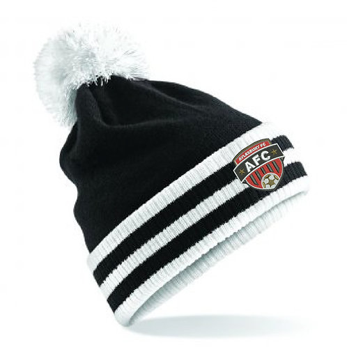 Beanie Hat Black/White