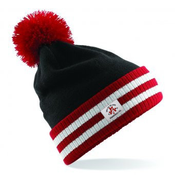 Beanie Stadium Bobble Black/Red