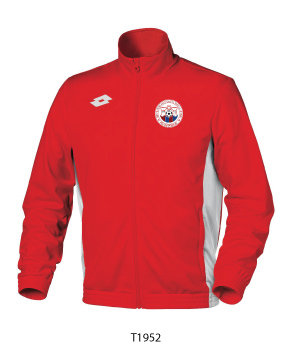 Adult Tracksuit Top Sweat Delta FZ Red/White