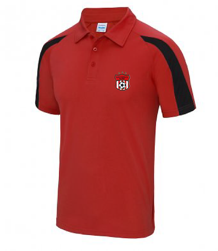Adult Polo Shirt Red/Black