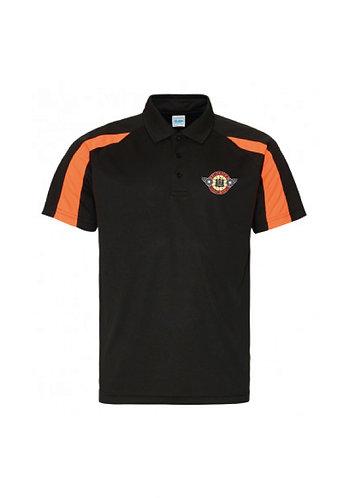 Adult Contrast Polo Black/Orange