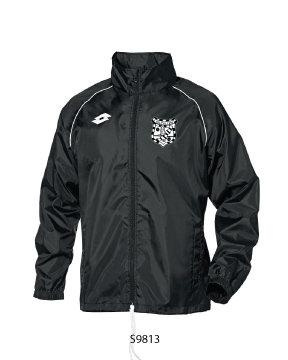 Adult Rain Jacket Delta Black/White