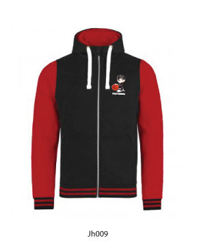 Adult Contrast Hoodie Black/Red