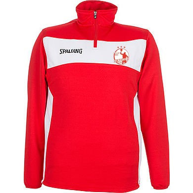1/4 Zip Red/White