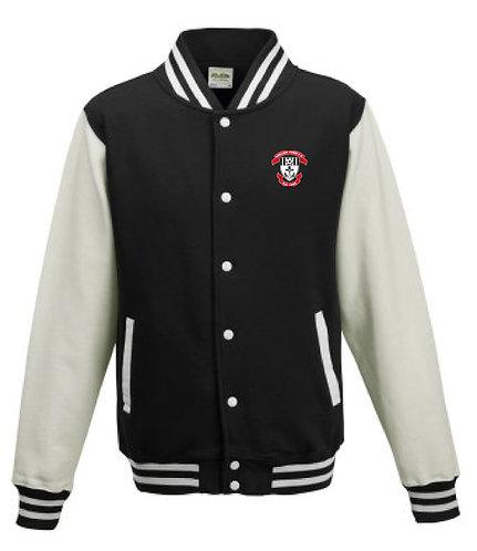 Adult Varsity Jacket Black/White