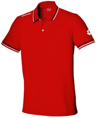 Kids Polo Shirt Red/Black/White