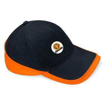 Baseball Cap 2 Colour Black/Orange