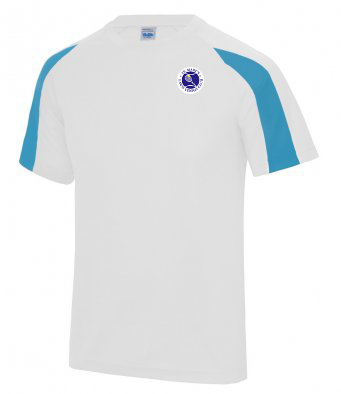 Kids  Contrast T Shirt White/Saphire