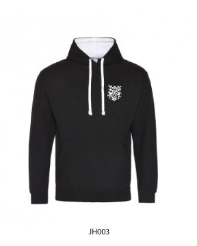 Adult Varsity Hoody Black/White