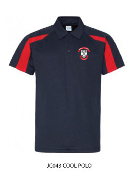 Adult Polo Shirt Black/Red