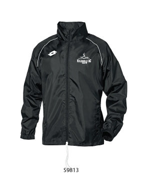 Kids Rain Jacket Delta Black/White