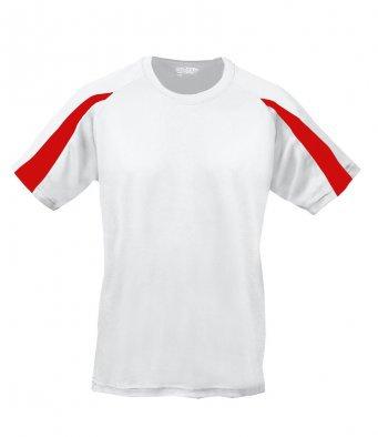 Kids Tee Shirt White/Red
