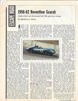 1958-62 Reventlow Scarab Article