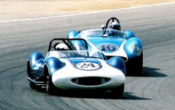 Chaparral and Scarab on Track