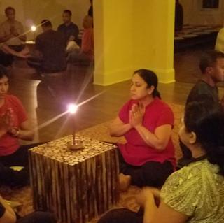 Trataka candle gazing meditation