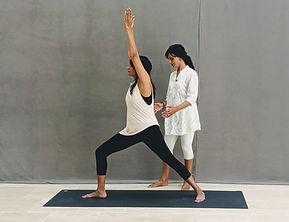 Girl doing yoga in a Private Yoga Session with Vedic Yoga