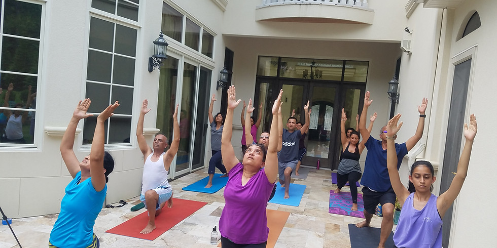 Hot Yoga Outdoors - August
