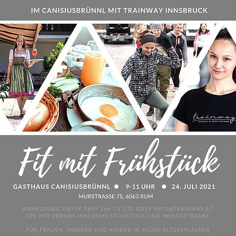 Fit mit Frühstück im Canisiusbrünnl mit TRAINWAY am 24. Juli