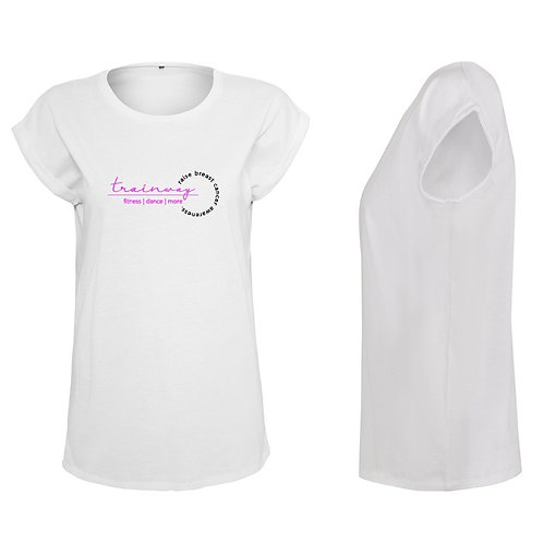 "Ladies T-Shirt ""raise breast cancer awareness"" - rund"