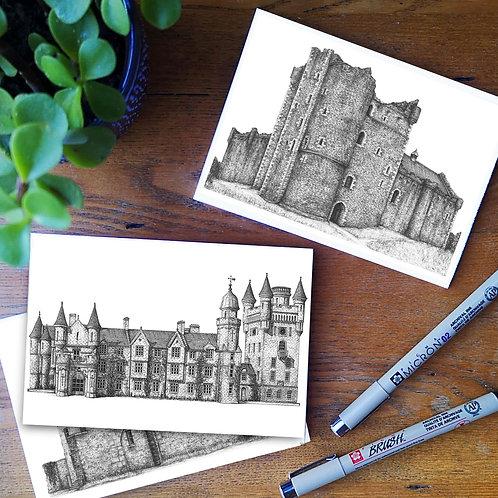 Set of 5 A6 Postcards • Scottish Castles