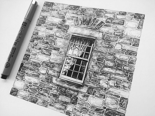 Dean Village Window, Edinburgh - Original Drawing